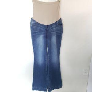 Indigo Blue Full Panel Maternity Jeans, size XL
